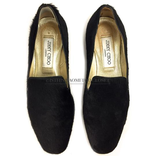 Jimmy Choo Travel Comfortable Shopping Casual Driving Black Flats Image 3