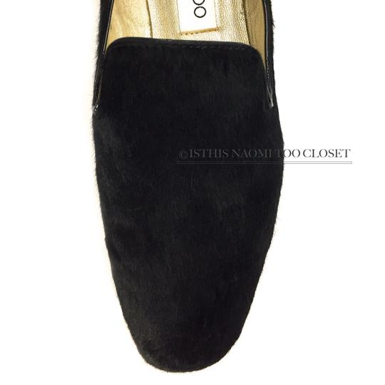 Jimmy Choo Travel Comfortable Shopping Casual Driving Black Flats Image 4