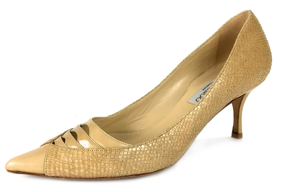 Jimmy Choo Nude Tan London Italy Pointy Toe 2.75 Inch Pumps Size EU 38 (Approx. US 8) Narrow (Aa, N) 77% off retail
