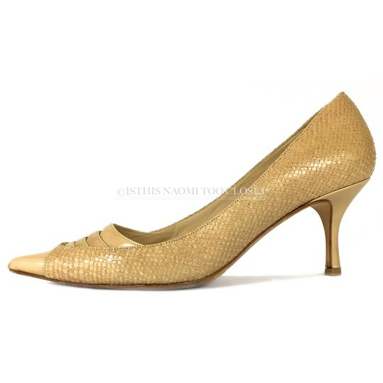 Jimmy Choo Work Business Travel Pointy Toe Nude/ Tan Pumps Image 1