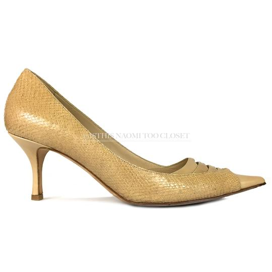 Jimmy Choo Work Business Travel Pointy Toe Nude/ Tan Pumps Image 2