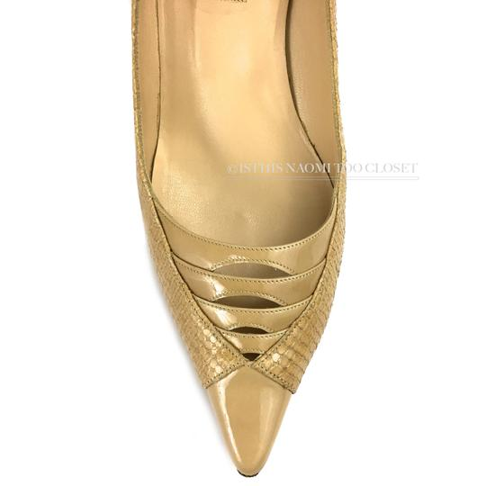 Jimmy Choo Work Business Travel Pointy Toe Nude/ Tan Pumps Image 4