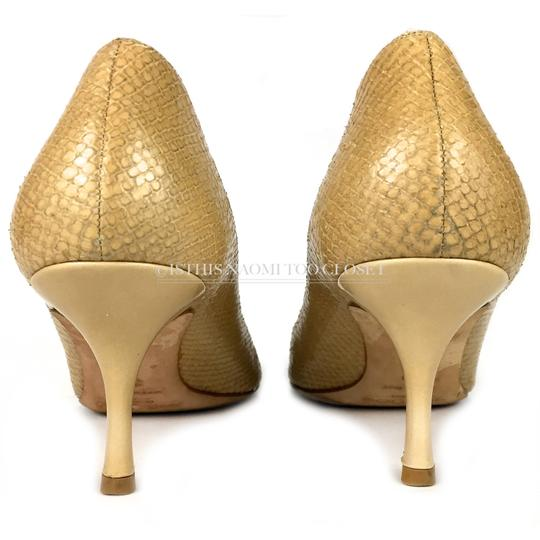 Jimmy Choo Work Business Travel Pointy Toe Nude/ Tan Pumps Image 5