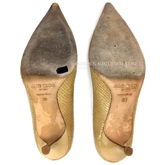 Jimmy Choo Work Business Travel Pointy Toe Nude/ Tan Pumps Image 7