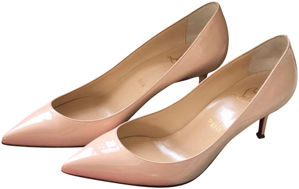 quality design 08006 fd921 Christian Louboutin Nude Pigalle Follies Patent 55mm In Poudre Pumps Size  EU 36.5 (Approx. US 6.5) Regular (M, B) 33% off retail