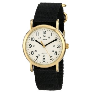 Timex Black Gold Nylon Stainless Steel T2P476 Watch