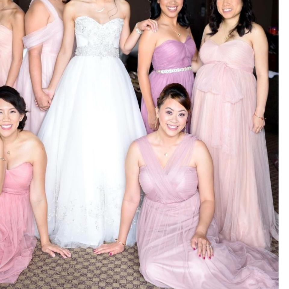 Jenny Yoo Pink Cameo Serafina Maternity Bridesmaid Dress Size 6 (S ...