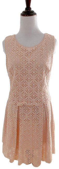 Preload https://img-static.tradesy.com/item/23072547/max-studio-peach-lace-sun-mid-length-short-casual-dress-size-0-xs-0-1-650-650.jpg
