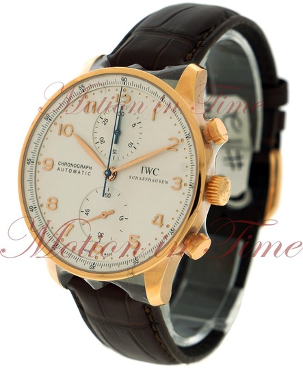 IWC IWC Portuguese Automatic Chrono, Silver Dial - Rose Gold on Strap Image 1