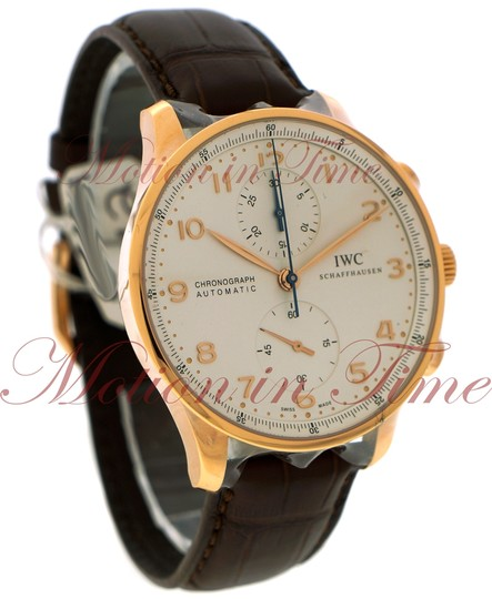 IWC IWC Portuguese Automatic Chrono, Silver Dial - Rose Gold on Strap Image 2