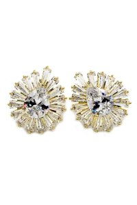 Ocean Fashion Gold Noble crystal spider earrings