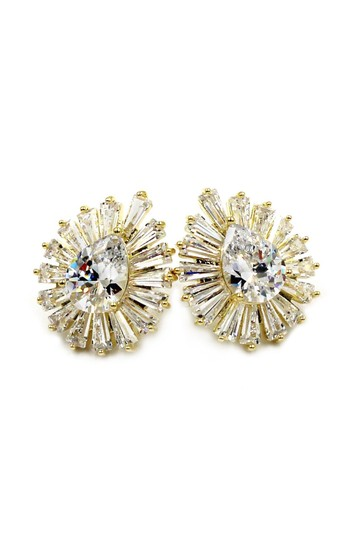 Ocean Fashion Gold Noble crystal spider earrings Image 1