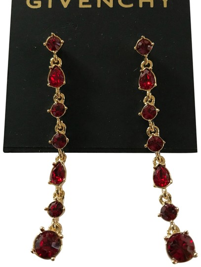 Preload https://img-static.tradesy.com/item/23072683/givenchy-swarorvski-red-crysals-linear-drop-earrings-0-2-540-540.jpg