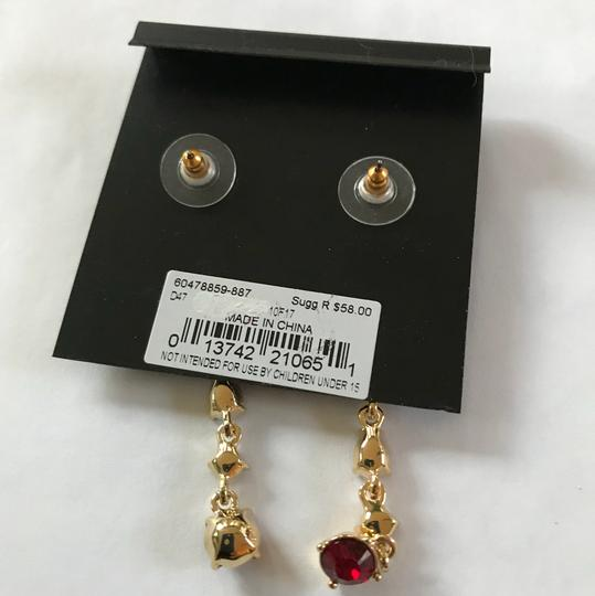 Givenchy Swarorvski red crysals Linear Drop Earrings Image 1