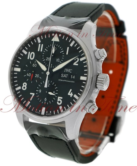 IWC IWC Pilot's Chronograph, Black Dial - Stainless Steel on Strap Image 1