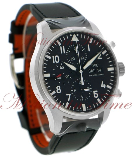 IWC IWC Pilot's Chronograph, Black Dial - Stainless Steel on Strap Image 2