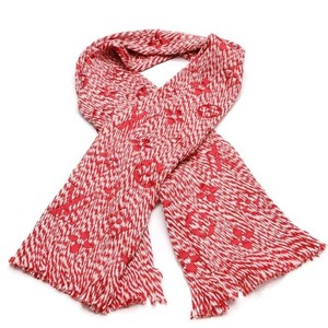 Louis Vuitton Logomania Mix Red Scarf