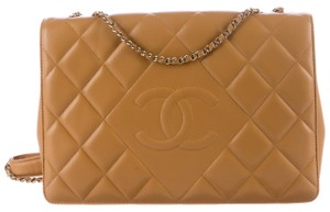 Chanel Medium Double Classic Flap Cc Logo Quilted Caviar Cross Body Bag