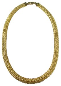 Veronese Collection Veronese 18k Clad Over .925 Sterling Woven Design 18 Inch Necklace