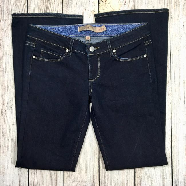 Paige Boot Cut Jeans-Dark Rinse Image 2