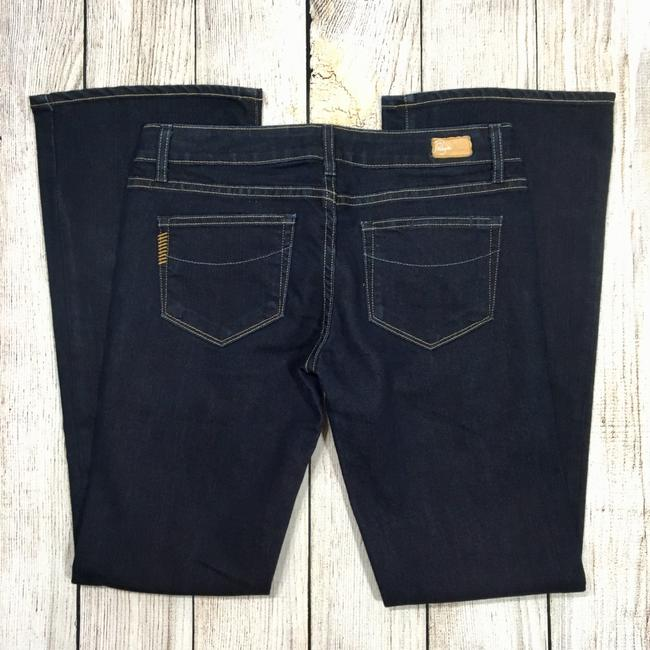Paige Boot Cut Jeans-Dark Rinse Image 3