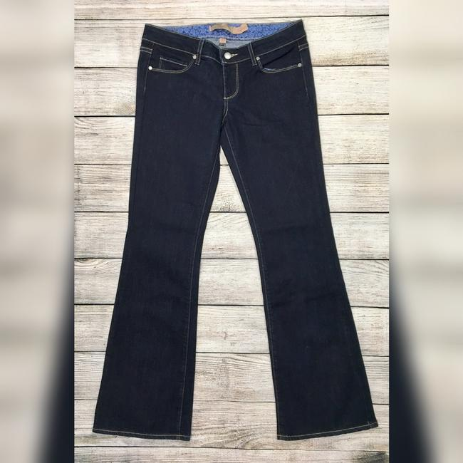 Paige Boot Cut Jeans-Dark Rinse Image 5