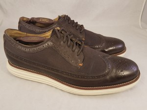 Cole Haan Brown Man Grandos Oxfords Wingtip Shoes