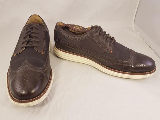 Cole Haan Brown Man Grandos Oxfords Wingtip Shoes Image 3
