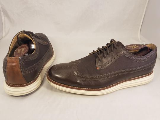 Cole Haan Brown Man Grandos Oxfords Wingtip Shoes Image 4