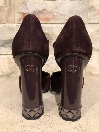 Chanel Mule Stiletto Sandal Quilted Sculpted purple Pumps Image 10