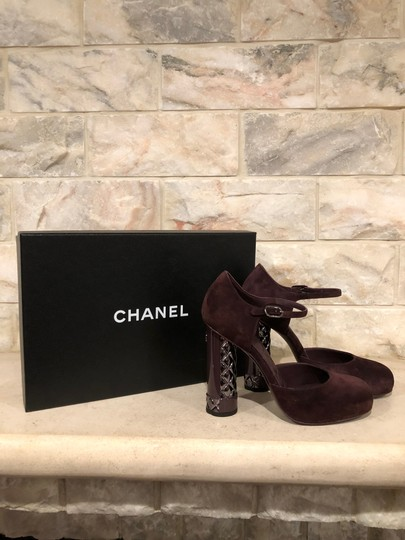 Chanel Mule Stiletto Sandal Quilted Sculpted purple Pumps Image 2