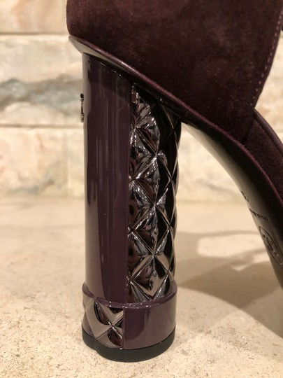 Chanel Mule Stiletto Sandal Quilted Sculpted purple Pumps Image 7