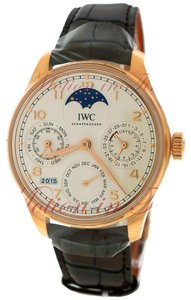 IWC IWC Portuguese Perpetual Calendar Single Moonphase -Rose Gold on Strap