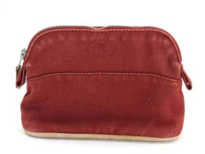 Hermès Cosmetic Pouch Make Up Toiletries Bolide Zippy Red Clutch