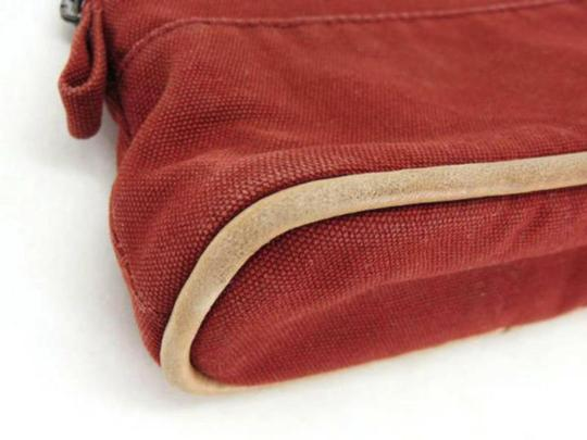 Hermès Cosmetic Pouch Make Up Toiletries Bolide Zippy Red Clutch Image 11