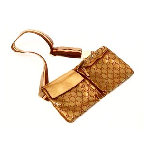 Gucci Monogram GG Gold Metallic Waist Pouch