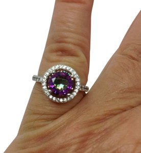 Other sterling over silver plated, mystic topaz ring