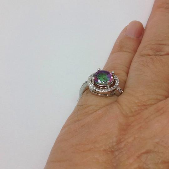 Other sterling over silver plated, mystic topaz ring Image 1
