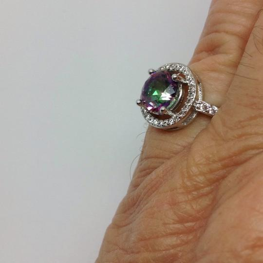 Other sterling over silver plated, mystic topaz ring Image 2