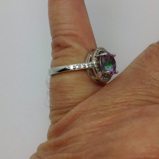 Other sterling over silver plated, mystic topaz ring Image 3