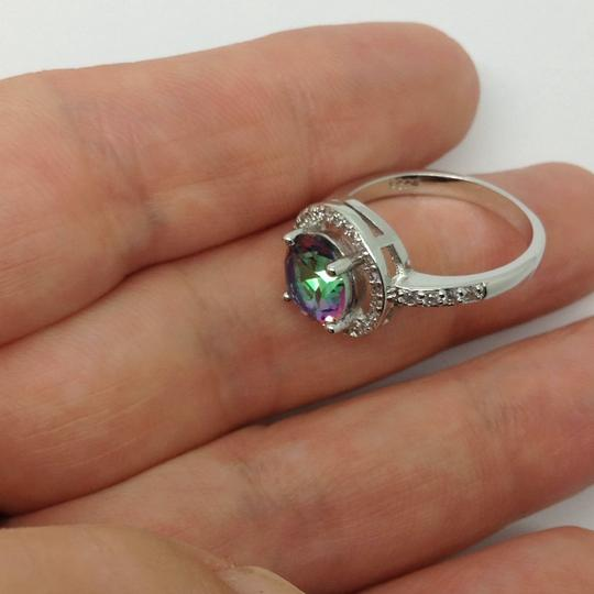 Other sterling over silver plated, mystic topaz ring Image 6