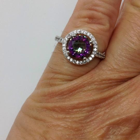 Other sterling over silver plated, mystic topaz ring Image 7