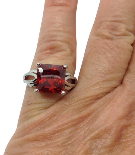 Preload https://img-static.tradesy.com/item/23073316/red-gemstone-sterling-silver-over-silver-plated-ring-0-1-540-540.jpg