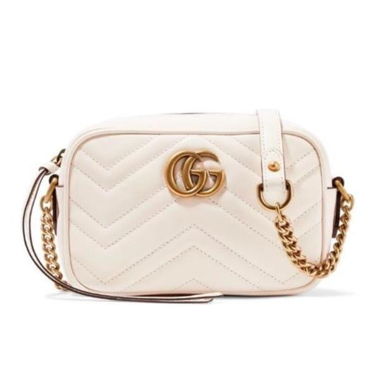 d1dc83b3f86b47 Gucci Marmont Mini Quilted Leather Shoulder Chain Cross Body Bag ...