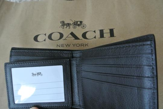 Coach Black Compact Id In Sport Calf Leather F74991 Wallet Image 2