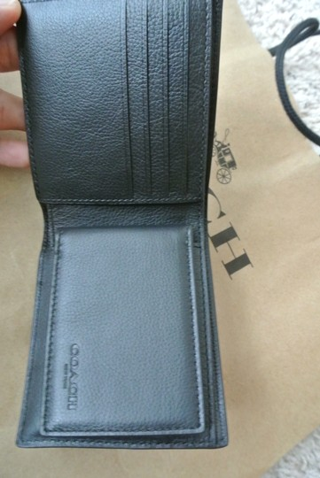 Coach Black Compact Id In Sport Calf Leather F74991 Wallet Image 3