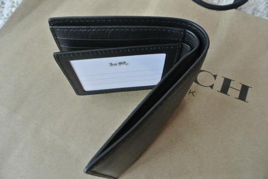 Coach Black Compact Id In Sport Calf Leather F74991 Wallet Image 5