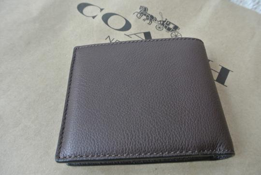 Coach Mahogany Compact Id In Sport Calf Leather F74991 Wallet Image 1
