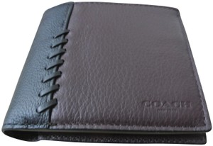 Coach Oxblood / Black 3-in-1 with Baseball Stitch Wallet