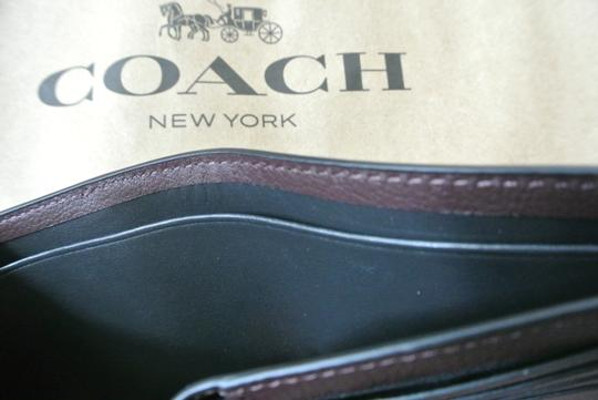 Coach Oxblood / Black 3-in-1 with Baseball Stitch Wallet Image 6